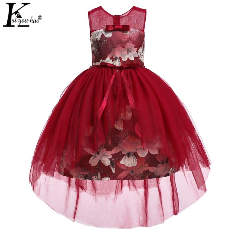 Kids Dresses For Girls Wedding Dress Elegant 2019 Easter Costume Kids Dresses Teenagers Tutu Dress Summer Girls Clothes Vestidos