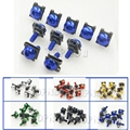 10x Motorcycle Motos La Moto Motocicleta Scooters Fairing Body Bolts M6 6mm Spire Speed Fastener Clips Screw Spring Bolots Nuts
