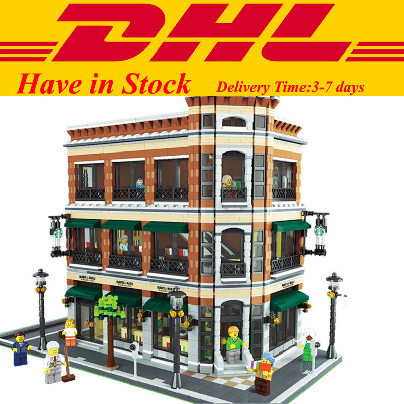 IN Stock LEPIN 15017 4616Pcs City Street  Starbucks Bookstore Cafe Model Building Kit Set Blocks Bricks Toy