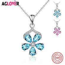 New Arrival 925 Sterling Silver Necklace With Austrian Crystal Star Pendent Collarbone Necklace Chain For Women & Girl Jewelry rhinestone star collarbone necklace set