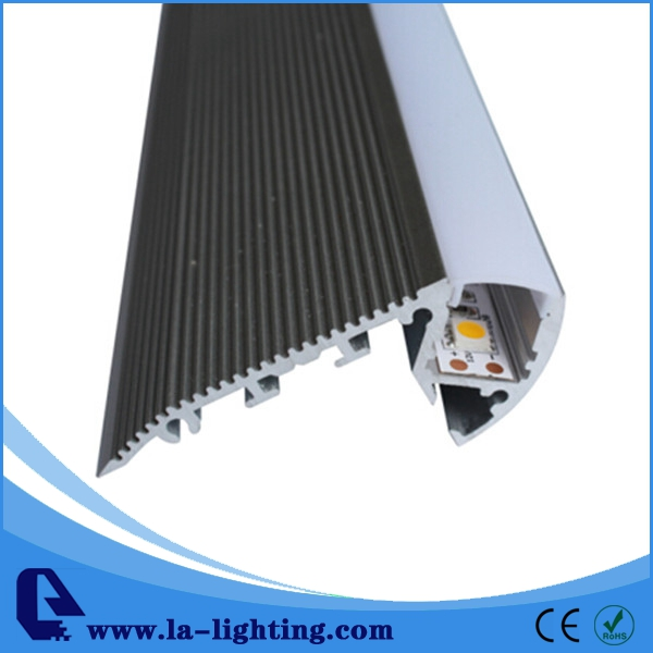 ФОТО 2PCS-1m length  Aluminum LED Profile-Item No.LA-LP37A led Stairs profile suitable for LED strips up to 12mm width-Free Shipping