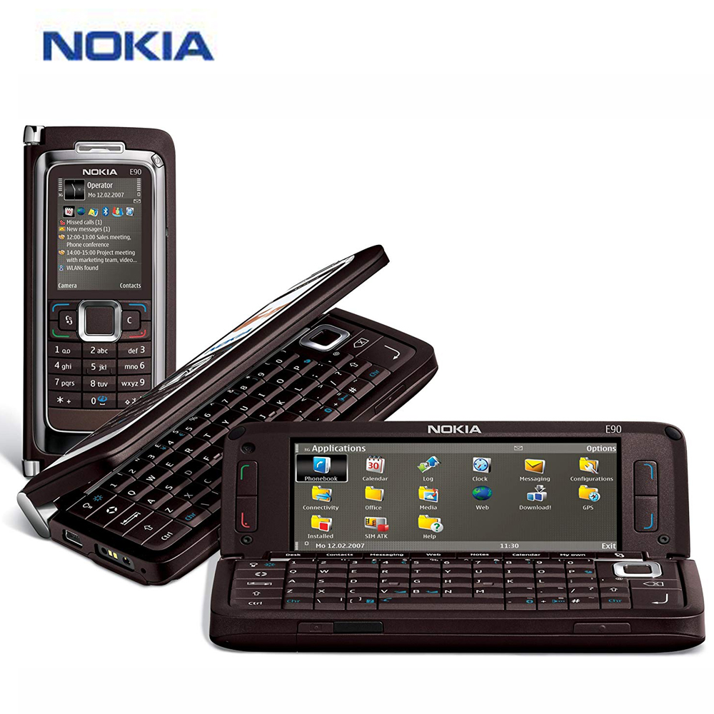 "Original New Nokia E90 Mobile Phone 4"" 128MB 1500mAh Phone"