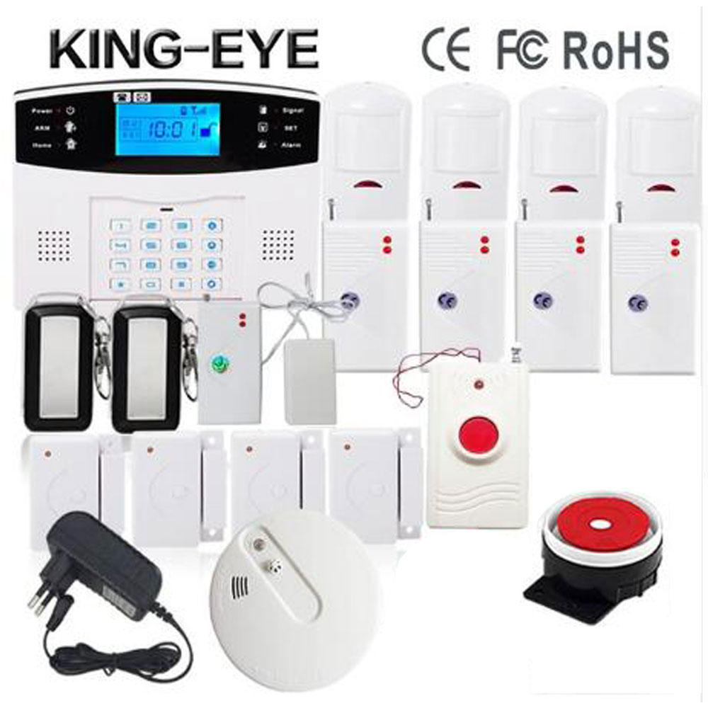 Russian/Italian/Czech/Spanish/French voice prompt APP gsm alarm system home security with outdoor siren smoke sensor water leak russian phrase book
