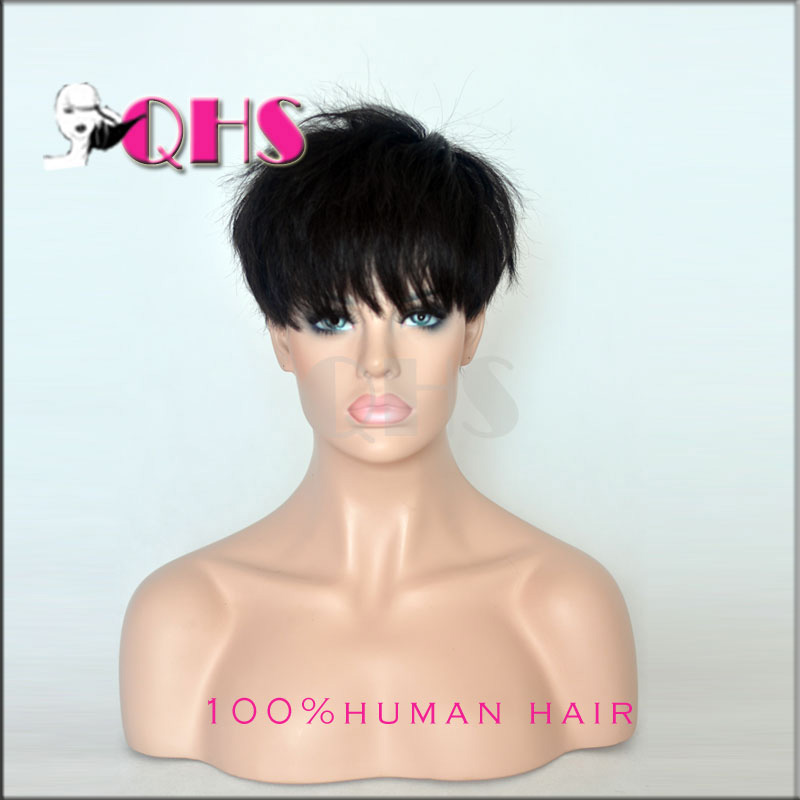 ... wigs with bangs short wigs for black women Best Pixie Cut wigs from