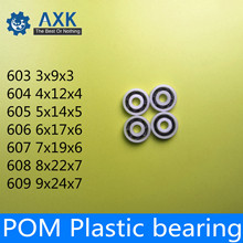 POM Bearing 603 604 605 606 607 608 609 ( 5 PCS ) Glass Balls Nylon Cage Plastic Ball Bearings цена и фото