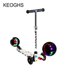 Children kick scooter printing PU 3wheels LED Baby3-15 years old Kid outdoor sports Bodybuilding