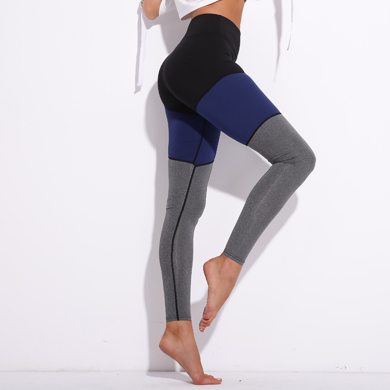 2018 New Women Slimming Push Up Leggings High Waist Fitness Pants Color Patchwork Sporting Leggings Women Skinny Pants Trousers