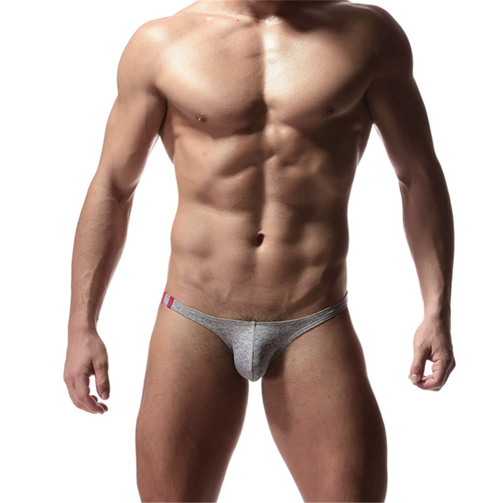 Low Waist <font><b>Mens</b></font> Cotton Briefs <font><b>Sexy</b></font> Temptation Underwear Briefs Penis Pouch Underwear <font><b>Sexy</b></font> <font><b>Mens</b></font> <font><b>Bikini</b></font> Underwear Cueca Masculina image