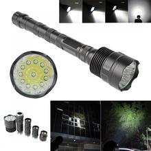 30000Lumen XM-L LED 12x T6 Super LED Flashlight Bright Torch Lamp Light with 5 switch Mode for Outdoor Camping Hiking Riding led flashlight 12 x xml t6 led 4800 lumen super bright torch flash lamp flashlight micro usb charging port for camping hiking