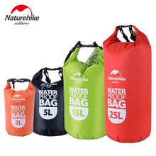 Naturehike Waterproof Rafting Bag  4 Colors Outdoor Nylon Kayaking Storage Drifting Dry Ultralight Swimming Bag 2L 5L 15L 25L