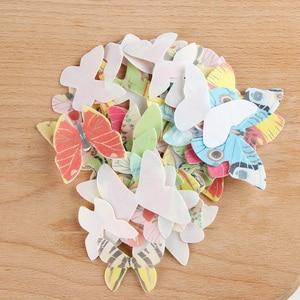 Image 4 - 42個混合カラフルな蝶ケーキデコレーションツールカップケーキトッパーケーキ食用漫画米ウエハ紙カップケーキトッパーbirthda