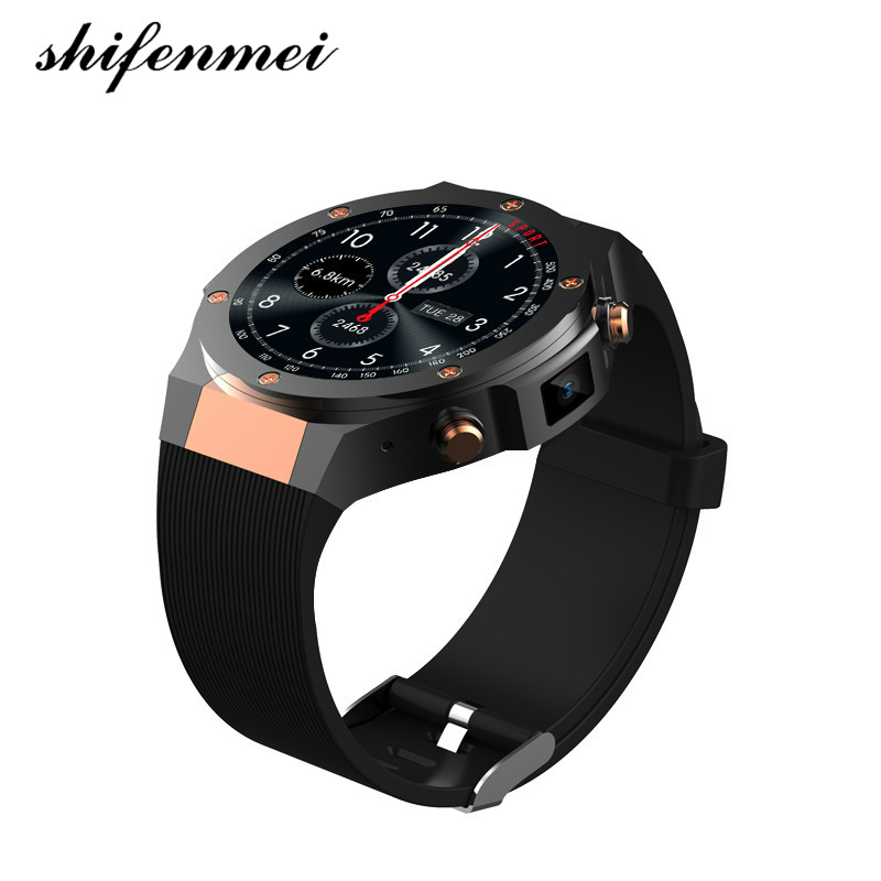 2018 Watches MTK6580 H2 android ios 1G+16GB Smart watch 1.39 inch SmartWatch phone 3G wifi GPS 5M heart rate nano SIM GSM WCDMA цены