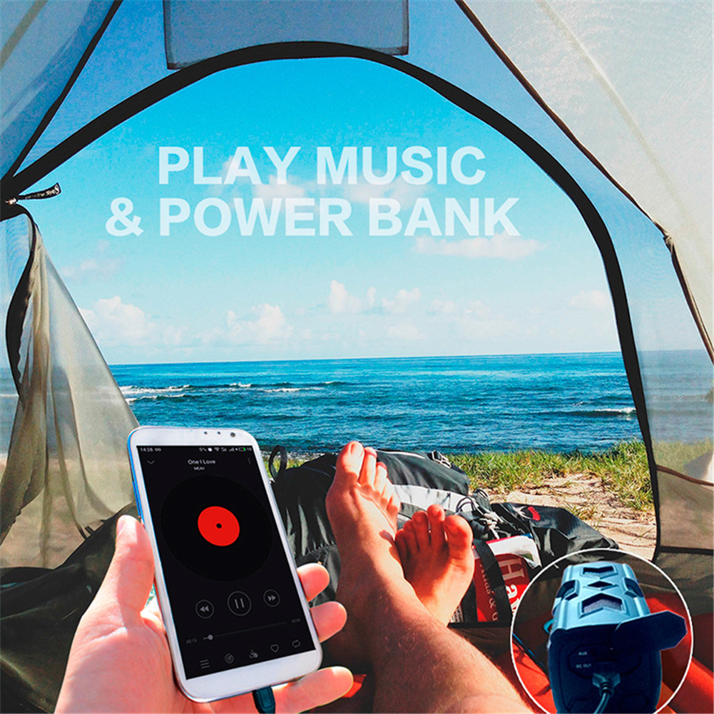 Outdoor Waterproof Bluetooth Speaker CSR-4.0 With NFC Function Emergency Charging Port Portable Audio And Video Equipment 8