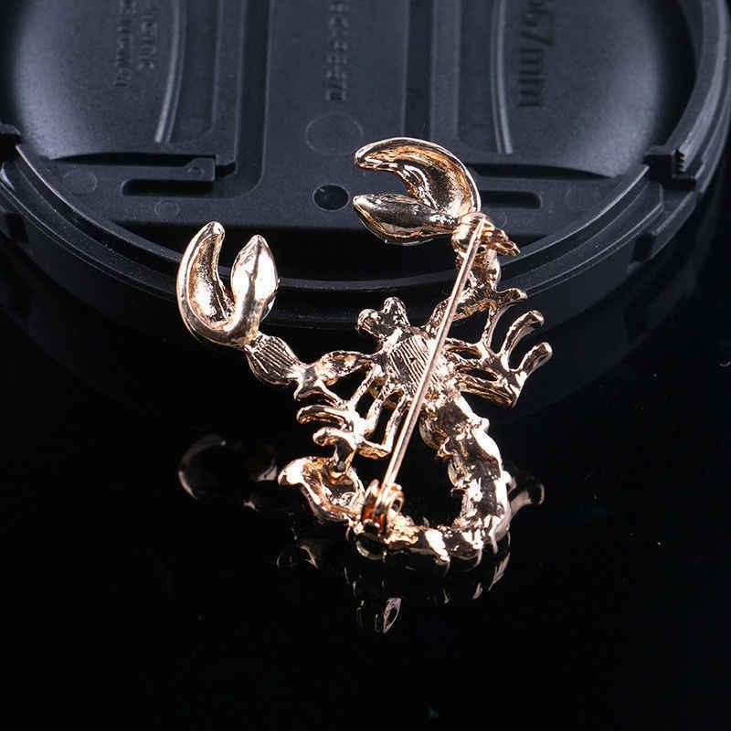 Decorativo Imitato Rhinestone Dell'indumento Dei Monili Spilla Da Sposa di Cerimonia Nuziale di Cristallo Imitato Animale Scorpione Spilla