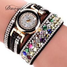 2017 New Brand DUOYA Women Luxury Bracelet Watch Women Fashion Crystal Dress Wrist Watches Casual Vintage Gift Quartz Watch