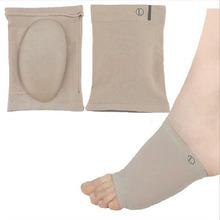 1Pair Gel Plantar Fasciitis Arch Support Sleeve Arch Socks Heel Cushion Foot Pads Patch Feet Care