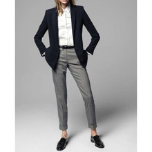 2017 Limited Promotion Full Pantalones Mujer 2 Piece Jacket+pants Women Ladies Business Office Tuxedos Work Wear Suit Bespoke
