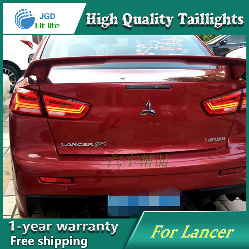 Car Styling Case for Mitsubishi Lancer 2009-2016 Taillights Tail lights LED Tail Lamp Rear Lamp DRL+Turn Signal+Brake+Reverse car styling led tail lamp for mondeo led taillights 2013 2015 rear light drl turn signal brake reverse auto accessories led ligh