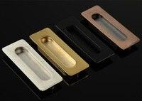 10Pcs Lot Zinc Pocket Sliding Door Cabinet Recessed Flush Pull Black Handle