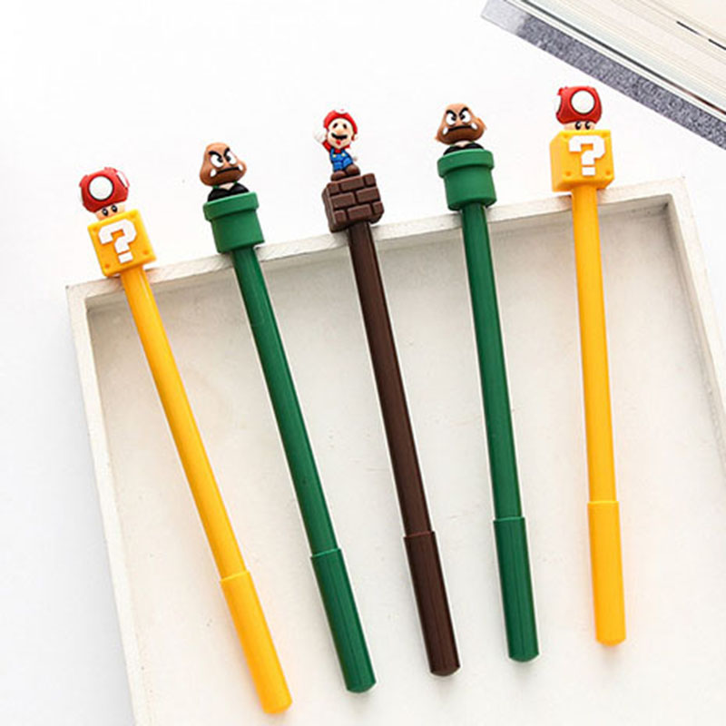 1 Pcs Gel Pen Cute Anime Pen Stationery Kawaii School Supplies Game Gel Ink Pen School Stationery Office Suppliers Pens 12pcs set gel pen color pen stationery tools school supplies gel ink pen school stationery office suppliers pen kids gift office