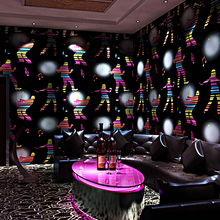 Wallpapers 3d flash wall covering hotel TV background corridor bar wallpaper pop music gold foil metal texture paper