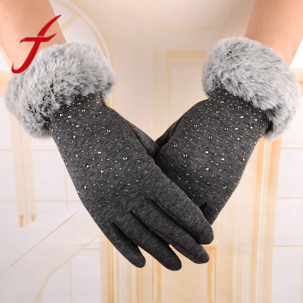 Gants Femme Hiver Winter Gloves Girls Cute Mitten Winter Gloves Women Fingerless Rabbit Gloves Female Luvas De Inverno C8110 Women's Gloves