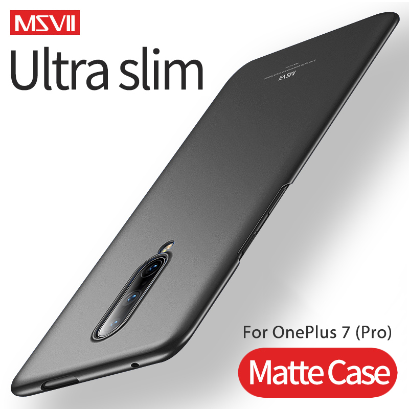 <font><b>Case</b></font> For <font><b>OnePlus</b></font> 7 Pro MSVII Hard PC Full Lightweight Matte Cover Ultra <font><b>Slim</b></font> Frosted Cover For <font><b>OnePlus</b></font> 6T 6 <font><b>5T</b></font> 5 Phone <font><b>Case</b></font> image