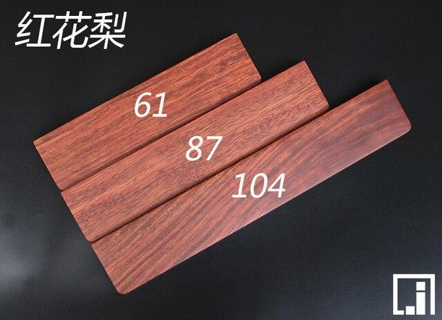 GH60 מוצק עץ זרוע שאר 60% מכאני מקלדת Poker2 87 מקלדת מיני בסיס עץ palm rest יד מחזיק מקלדת pad