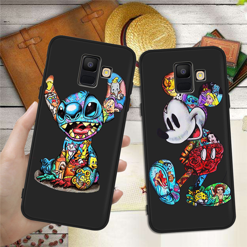 For <font><b>Samsung</b></font> Galaxy A9 A8 <font><b>A7</b></font> A6 A5 A3 J3 J4 J5 J6 J8 Plus 2017 <font><b>2018</b></font> phone Case Cover Coque Etui Groot Joker Stitch marvel cartoon image