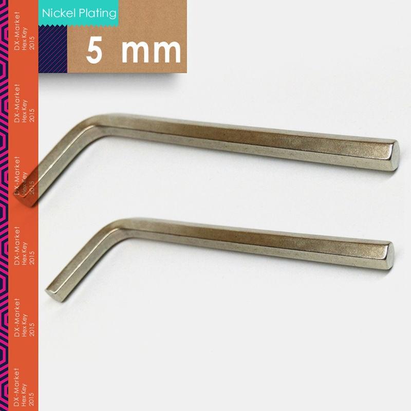 5mm, 20pcs / lot, chiave esagonale DIN911, utensili a brugola, chiave nichelata m5, produttore di chiusure in Cina