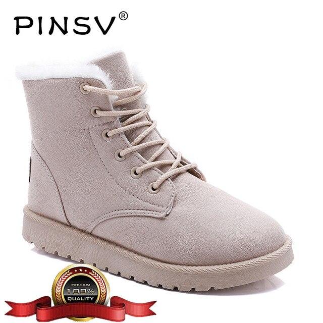 Зимняя обувь женские зимние ботинки Теплый плюш розовые зимние сапоги женская обувь ботильоны для Для женщин большой размер 35–40 zapatos mujer