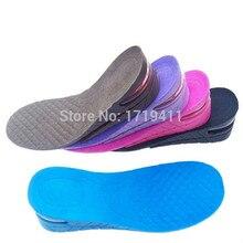 2-Слои воздушный пузырь Подушки обуви высота подъема увеличить ортопедические Обувь insolestaller для Для мужчин и Для женщин palmilha 5 см