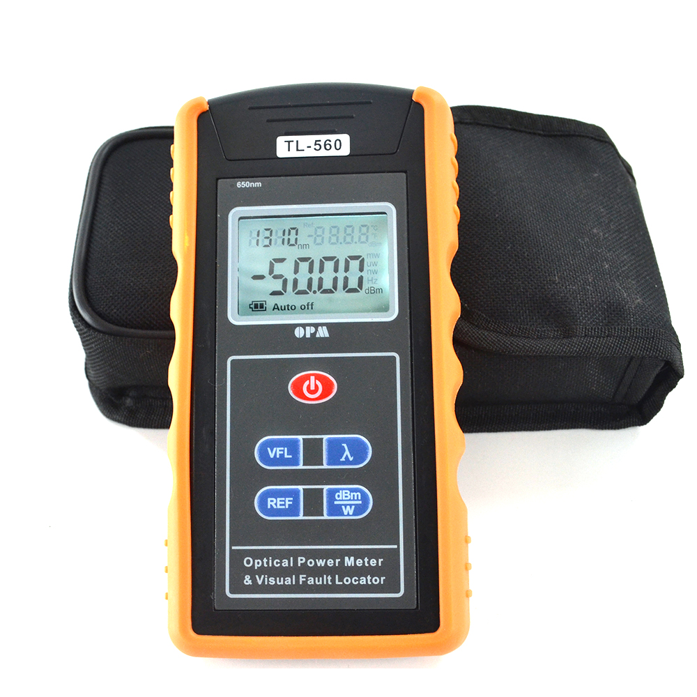 Handheld TL-560 FTTH Fiber optical power Meter optic opm built in 1mw VFLHandheld TL-560 FTTH Fiber optical power Meter optic opm built in 1mw VFL