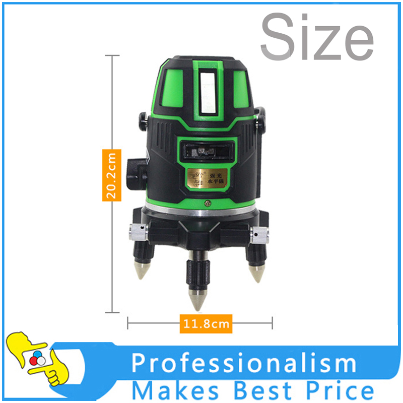 5 line 6 point /3 line 4 point /2 line 3 point Green Laser Level Outdoor 360 Degree Rotary Cross Laser Line Level kapro laser level laser angle meter investment line instrument 90 degree laser vertical scribe 20 meters