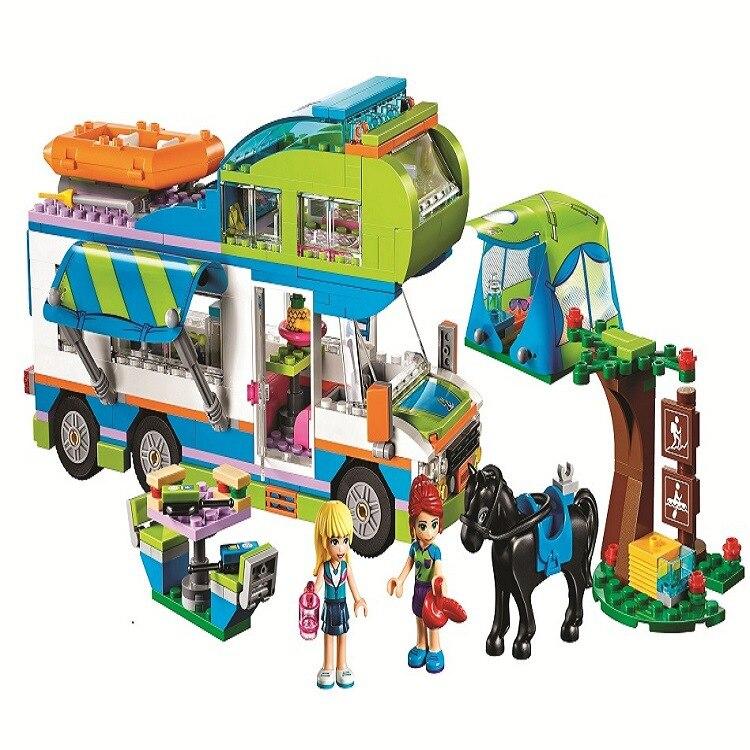 01062 10858 546 Pcs Compatibile legoings amici 41339 ragazza Mia Camper Van modello giocattolo della ragazza FAI DA TE Mattone fidget spinner regalo di compleanno