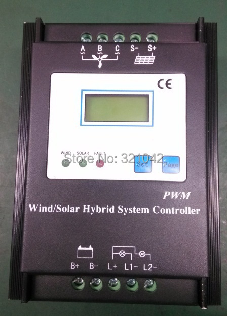LCD display Intelligent PWM 500W 12V 24V Auto work Wind Solar Hybrid Controller with Battery Overcharge Protection Function 60a pwm auto switch intelligent solar charger controller 12v 24v lcd display discharge with usb fr solar battery panel regulator