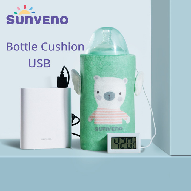 SUNVENO Portable Milk Bottle Warmer for Babies USB Charging Heating Thermo Bag Keep Baby Milk or Water Warm