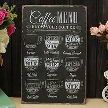 Cartel de Arte de Metal Retro para decoración de pared del hogar para Bar o cafetería