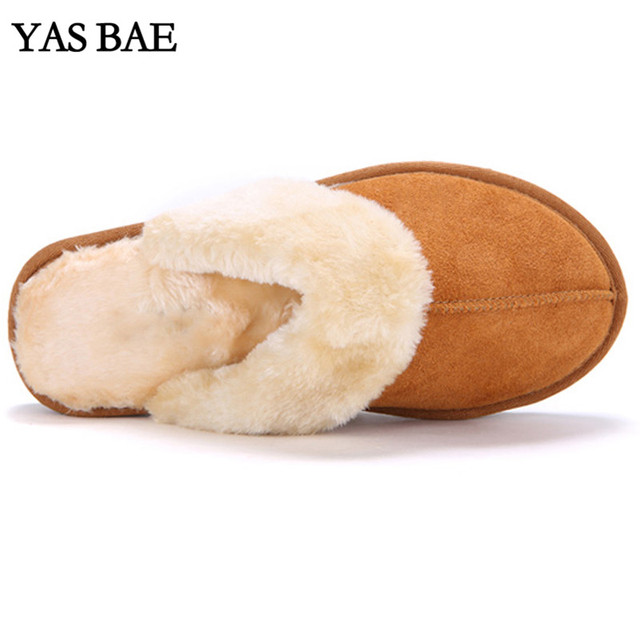 2016 Hot Sale Luxury Winter Plush Leather Furry Flip Flops House Fuzzy Fur Soft Bedroom Australian Slippers for Women no ug Anti