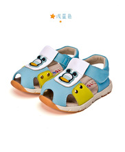Free Shipping 1 pair Boy Children  genuine leather  Boy Sandals arch support Summer Shoes