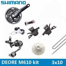 Горный велосипед Shimano DEORE M610 горный велосипед сменный комплект кривошипно звездочки 3X10 30 Скорость велосипеда Запчасти переключатель комплект бесплатная доставка