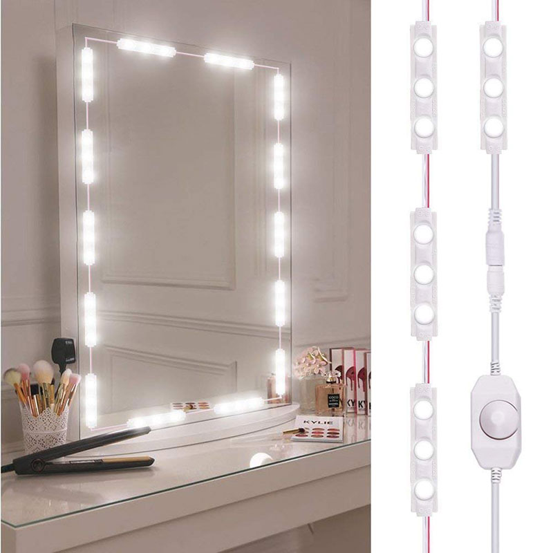 3M Mirror Light Bulb LED Makeup Mirror Dimmable Bulb Dressing Decoration Make Up Mirrors Powered Cosmetic Light Kit 110-220V
