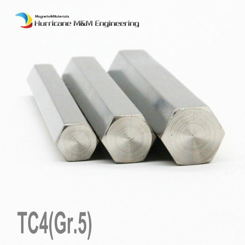 TC4 Titanium Alloy Hexagonal Cylinder 10-200mm plg Industry Experiment Research DIY GR5 Ti Rod 1 meter Titanium Alloy bar 95 725 108 360 rf cable assemblies smp str plg smp str plg mr li