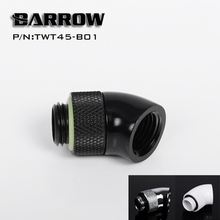 Barrow Black White Silver G1/4'' thread 45 degree Rotary Fitting Adapter Rotating 45 degrees water cooling Adaptors TWT45-B01 barrow white black silver g1 4 special edition black hand tighten water stop water cooling fitting tds 01