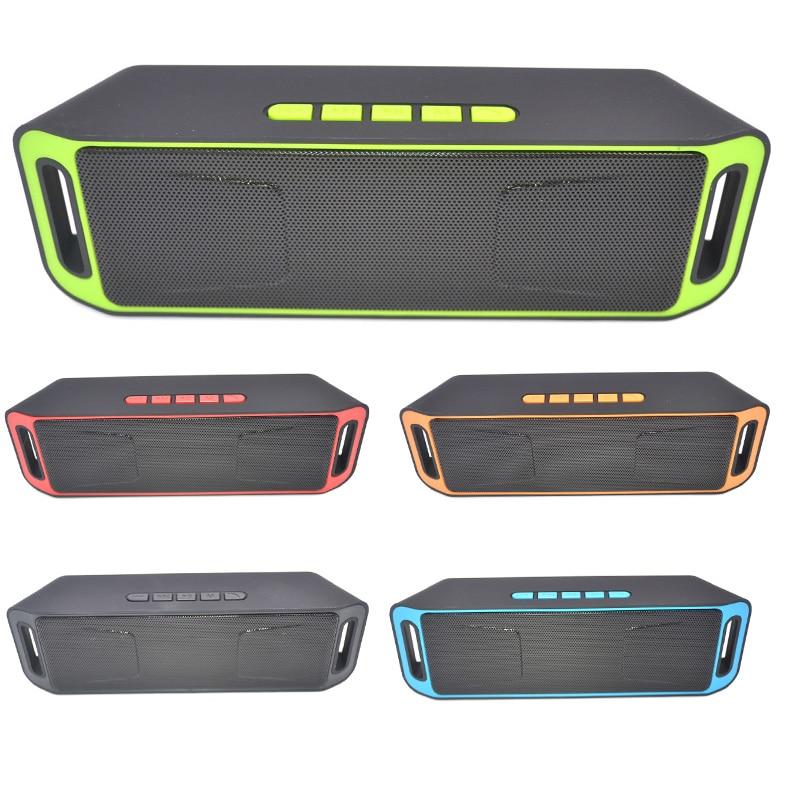 New Portable Bluetooth 4.0 Wireless Speaker TF USB FM Radio Dual Bass Sound Subwoofer Speakers GDeals portable wireless bluetooth audio speakers aux mini fm radio usb card subwoofer bass loudspeaker karaoke 3d surround sound box