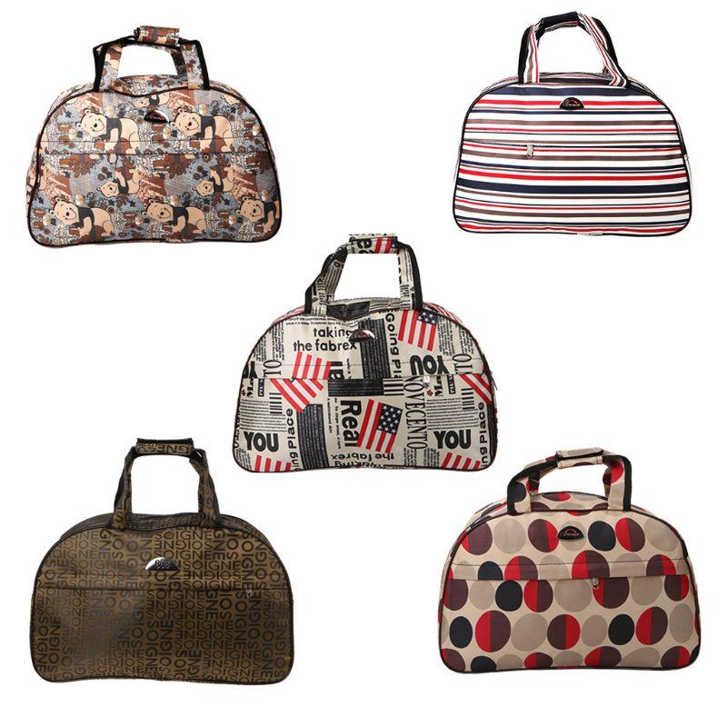 THINKTHENDO Men Women Travel Bags Fashion Waterproof Large Capacity Luggage Duffle Bags Casual Handbag