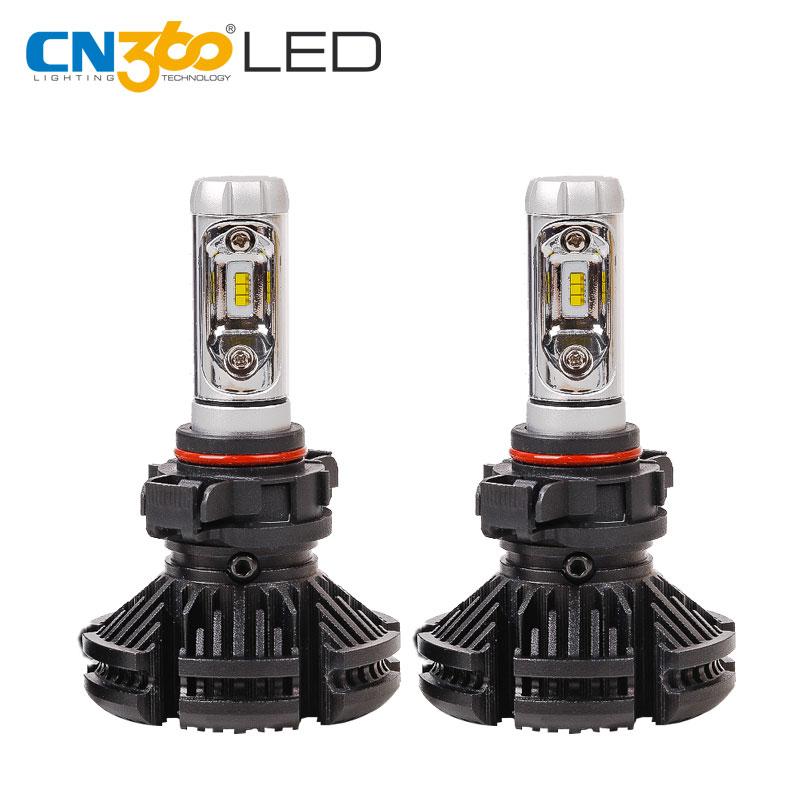 CN360 2PCS X3 H16 LED ZES Chip Auto Headlamp 25W Headlight 3000K 6000 8000K Waterproof All In One Car Super Bright Plug & Play