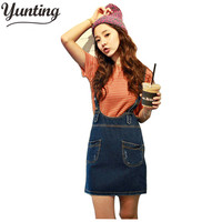 Skirts Real New Skirts Womens Denim Skirt Women S Fashion Magazine Denim Braces Bib Pocket Jeans