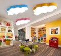Мультфильм сказочные прекрасные облака светодиодный потолочный светильник дизайн цвета Железный акрил для детей Детская комната светильн...