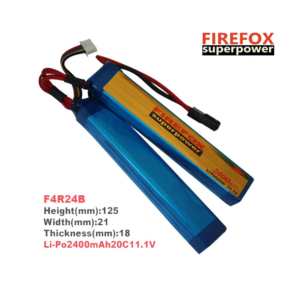 1pcs 100% Orginal FireFox 11.1V 2400mAh 20C 2 Cell Li Po AEG Battery F4R24B аккумулятор li po 11 1 вольт firefox в туле